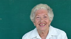 15 Hispanic People Portrait Happy Old Woman Smiling At Camera - stock footage