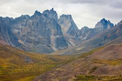 Tombstone Mountain range Yukon Territory Canada - stock photo