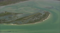 AERIAL South Africa-Patterns In Lagoon Stock Footage