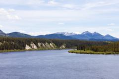 Teslin River Yukon Territory Canada Stock Photos