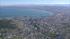 AERIAL South Africa-Cape Town Harbour - stock footage