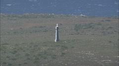 AERIAL South Africa-Coast And The De Gama And Dias Memorials Stock Footage