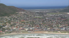 AERIAL South Africa-Fish Hoek And Kalk Bay Stock Footage