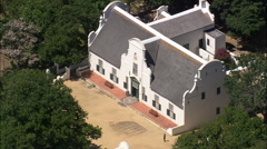 AERIAL South Africa-Groot Constantia Winery Stock Footage