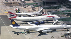 AERIAL South Africa-Cape Town International Airport Stock Footage