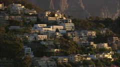 AERIAL South Africa-Cape Town At Sunset Stock Footage