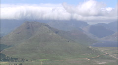 AERIAL South Africa-Drakenstein Mountains Stock Footage