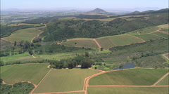 AERIAL South Africa-Rastenberg Winery Stock Footage