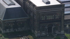 AERIAL United Kingdom-Crossness Pumping Station - stock footage