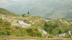 Terraced Rice Field Stock Footage
