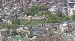 AERIAL United Kingdom-Brighton Pavilion Stock Footage