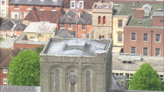 AERIAL United Kingdom-Winchester Cathedral Stock Footage