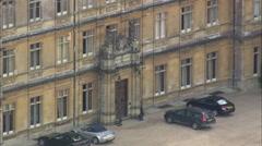 AERIAL United Kingdom-Highclere Castle Stock Footage