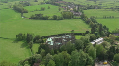AERIAL United Kingdom-Berkeley Castle Stock Footage