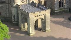 AERIAL United Kingdom-Eastnor Castle Stock Footage