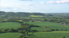 AERIAL United Kingdom-Witley Court Stock Footage