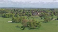 AERIAL United Kingdom-Over Weston Park Stock Footage