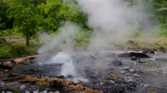 Pong Duet Geyser, Chiang Mai, Thailand Stock Footage