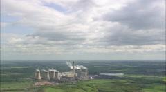AERIAL United Kingdom-Drax Power Station Stock Footage