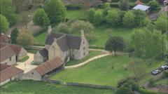 AERIAL United Kingdom-Woolsthorpe Manor Stock Footage