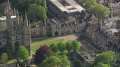 AERIAL United Kingdom-Peterborough Cathedral Stock Footage