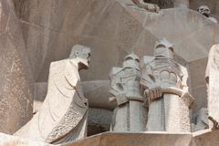 Sagrada Familia detail Stock Photos