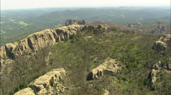 AERIAL United States-Flight Over Black Hills National Forest Stock Footage