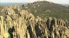 AERIAL United States-The Needles And Cathedral Spires Stock Footage
