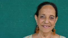 18 Hispanic Senior People Portrait Happy Old Woman Smiling Face Stock Footage