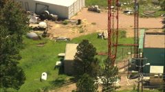 AERIAL United States-Transmitter Tower Rapid City - stock footage