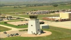 AERIAL United States-Rapid City Regional Airport - stock footage