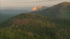 AERIAL United States-Crazy Horse At Dawn Stock Footage