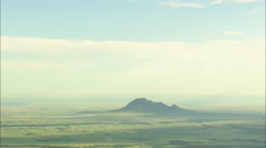 AERIAL United States-Approach To Bear Butte Stock Footage