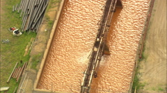 AERIAL United States-Yates And Homestake Mine Buildings Stock Footage