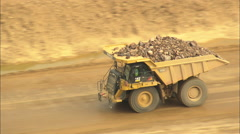 AERIAL United States-Open Cast Gold Mine Stock Footage