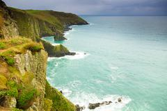 Irish landscape. coastline atlantic coast County Cork, Ireland - stock photo