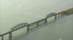 AERIAL United States-Us-12 Bridge Stock Footage