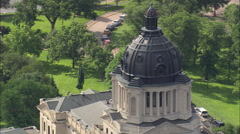 AERIAL United States-State Capitol Stock Footage