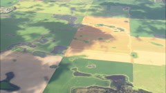 AERIAL United States-Pattern Of Fields Stock Footage