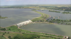 AERIAL United States-Big Bend Dam Stock Footage
