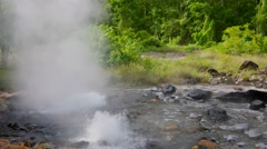 hot spring sources at at Pong Duet Geyser - stock footage