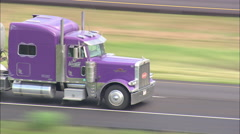 AERIAL United States-Trucks On Route 90 - stock footage