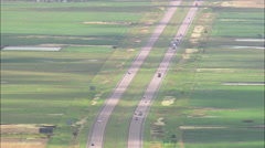 AERIAL United States-Route 90 Across The State Stock Footage