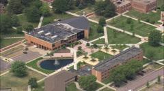 AERIAL United States-Dakota Wesleyan University Stock Footage