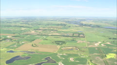 AERIAL United States-Flight And Pan Round Flooded Fields Stock Footage