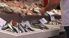Greek fish market Stock Footage