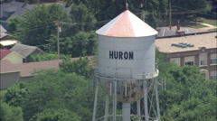 AERIAL United States-Huron Stock Footage