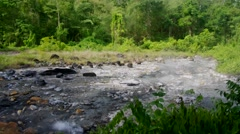 Hot spring channel at Pong Duet Geyser Stock Footage