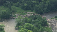 AERIAL United States-Rapids On Big Sioux River - stock footage