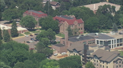 AERIAL United States-University Of Sioux Falls Stock Footage